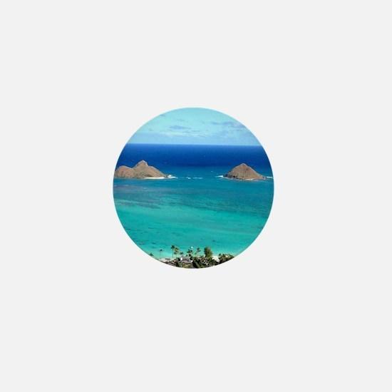 lanikai beach hawaii Mini Button
