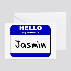 hello my name is jasmin  Greeting Cards (Package o