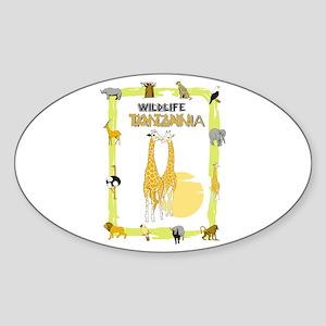 wildlife Tanzania 2 Oval Sticker