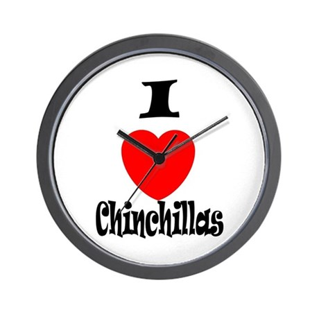 I love Chinchillas Wall Clock