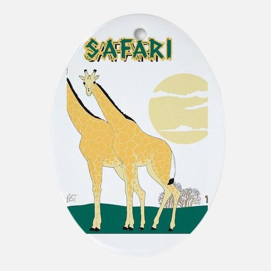 safari Oval Ornament
