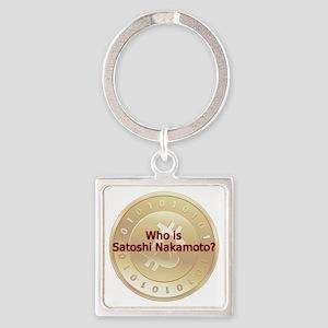 Bitcoin:  Who Is Satoshi Nakamoto? Square Keychain