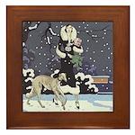 Borzoi Holiday Framed Tile