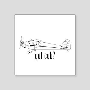"Got Cub? Square Sticker 3"" x 3"""