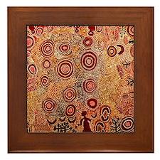 Aboriginal Petroglyph Framed Tile