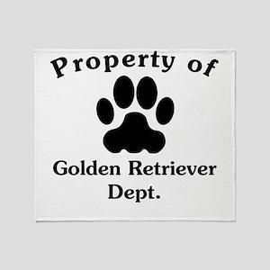 Property Of Golden Retriever Dept Throw Blanket