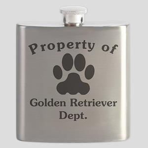 Property Of Golden Retriever Dept Flask