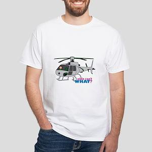 Girl Helicopter Pilot Light/Red White T-Shirt