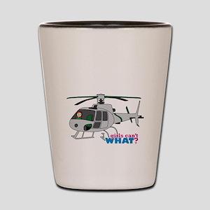 Girl Helicopter Pilot Light/Red Shot Glass