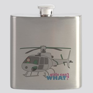 Girl Helicopter Pilot Light/Red Flask