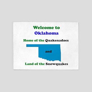 Quakenadoes Snowquakes 5'x7'Area Rug