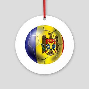 Moldova Football Ornament (Round)