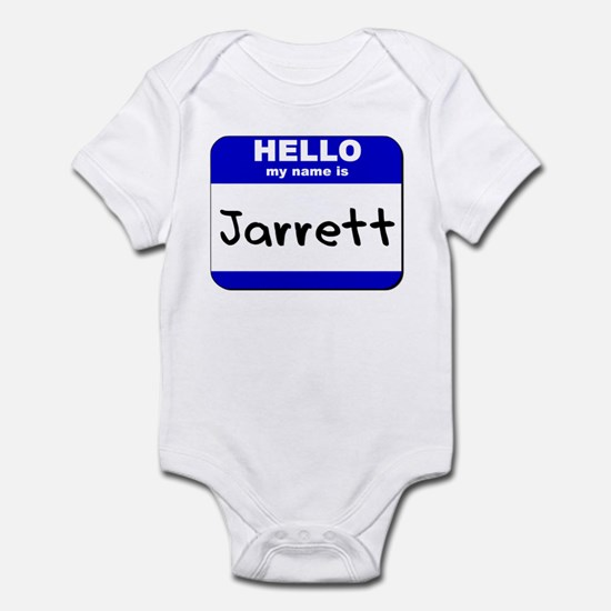 hello my name is jarrett  Infant Bodysuit
