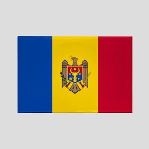 Flag of Moldova Rectangle Magnet