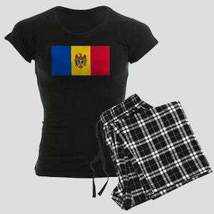 Flag of Moldova Women's Dark Pajamas