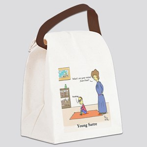 Young Sartre Canvas Lunch Bag
