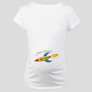 Future Astronaut Rocket Ship Maternity T-Shirt