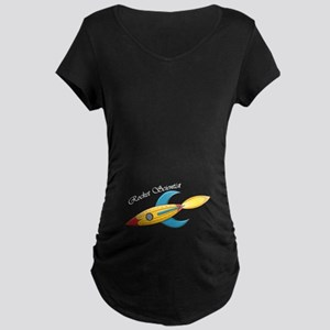 Rocket Scientist Rocket Ship Maternity T-Shirt