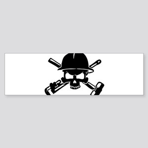 Oilfield Skull Bumper Sticker