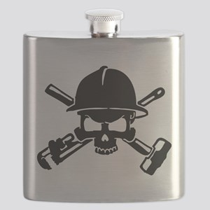 Oilfield Skull Flask