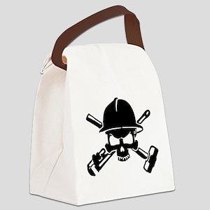 Oilfield Skull Canvas Lunch Bag