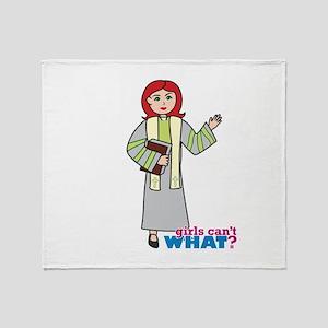 Preacher Woman Light/Red Throw Blanket