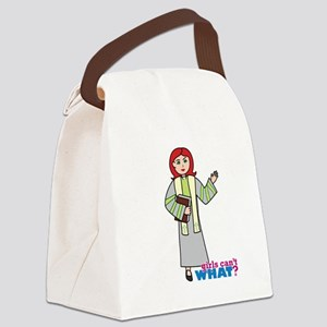 Preacher Woman Light/Red Canvas Lunch Bag