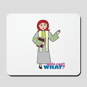Preacher Woman Light/Red Mousepad