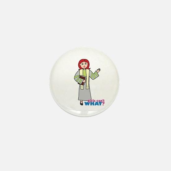 Preacher Woman Light/Red Mini Button