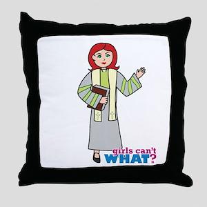 Preacher Woman Light/Red Throw Pillow