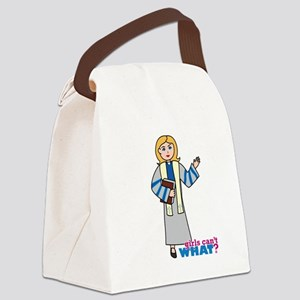 Preacher Woman Light/Blonde Canvas Lunch Bag