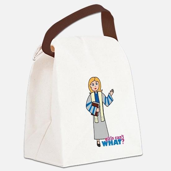 Preacher Woman Light/Blonde Canvas Lunch Bag