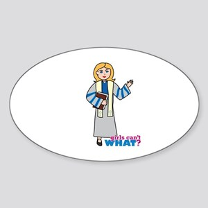 Preacher Woman Light/Blonde Sticker (Oval)
