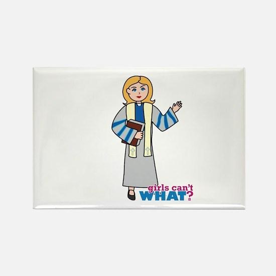 Preacher Woman Light/Blonde Rectangle Magnet