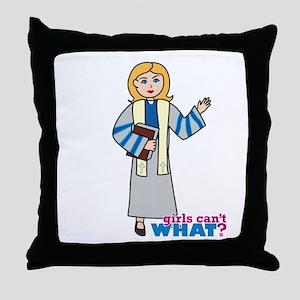Preacher Woman Light/Blonde Throw Pillow