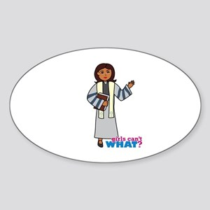 Preacher Woman Dark Sticker (Oval)