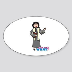 Preacher Woman Medium Sticker (Oval)