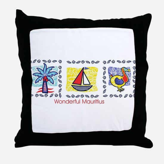 wonderful Mauritius Throw Pillow