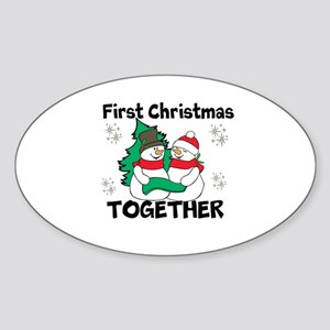 Cute First Christmas Together Sticker