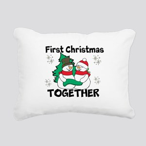 Cute First Christmas Together Rectangular Canvas P