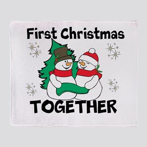 Cute First Christmas Together Throw Blanket