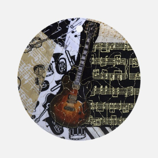 Electric Guitar Ornament (Round)