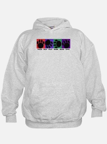 Color Bar Paw Prints Hoodie