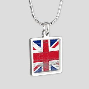 Union Jack Silver Square Necklace