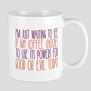 good or evil Mugs