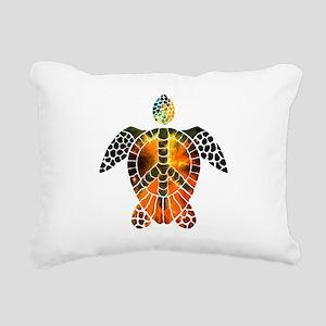 sea turtle-3 Rectangular Canvas Pillow