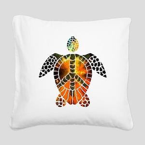 sea turtle-3 Square Canvas Pillow