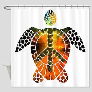 sea turtle-3 Shower Curtain