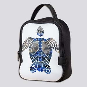 Sea Turtle Peace Neoprene Lunch Bag