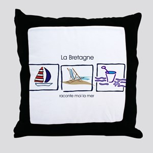 la Bretagne beach Throw Pillow